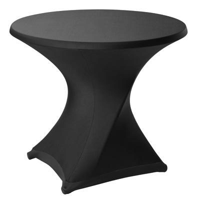 Terrastafel met zwarte rok